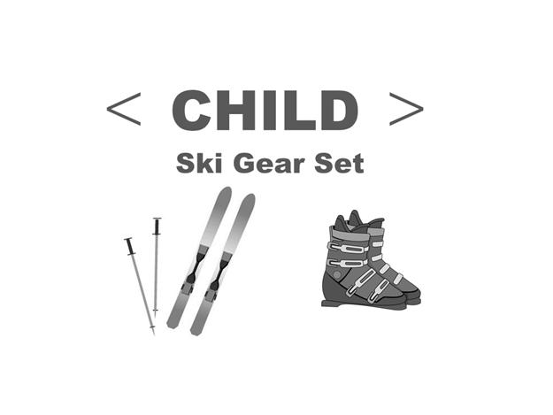 スキーセット チャイルド の画像