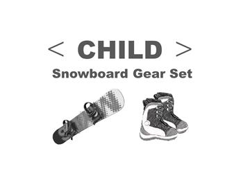 スノーボードセット チャイルド の画像